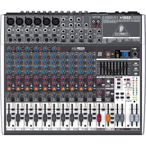 Behringer X1832USB 18-Input USB Audio Mixer with Effects