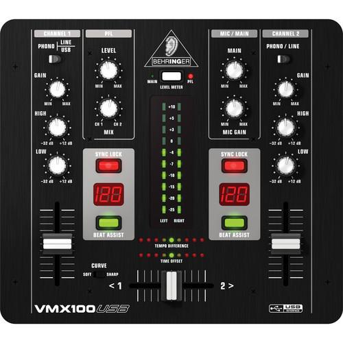 Behringer VMX100USB 2-Channel DJ Mixer