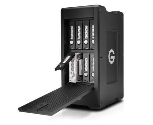 G-Technology 0G05869 96TB G-SPEED Shuttle XL Thunderbolt 3 Transportable, Hardware RAID 8-Bay Thunderbolt™ 3 Storage Solution with Enterprise Class Hard Drives