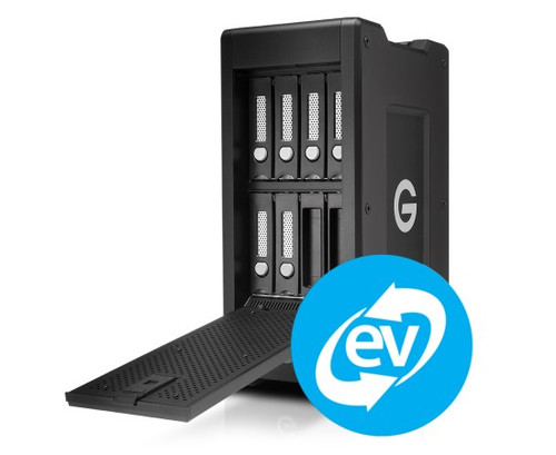 G-Technology 0G05957 72TB G-SPEED Shuttle XL Thunderbolt 3 with ev Series Bay Transportable, Hardware RAID 8-Bay Thunderbolt™ 3 Storage Solution with 2 ev Series Bay Adapters, Evolution Series Compatible