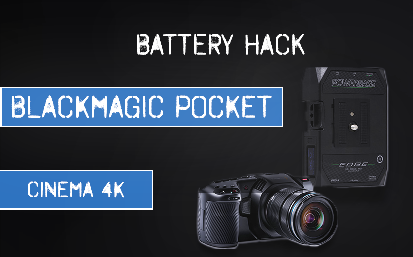 Battery Hack for Blackmagic Pocket Cinema Camera 4k