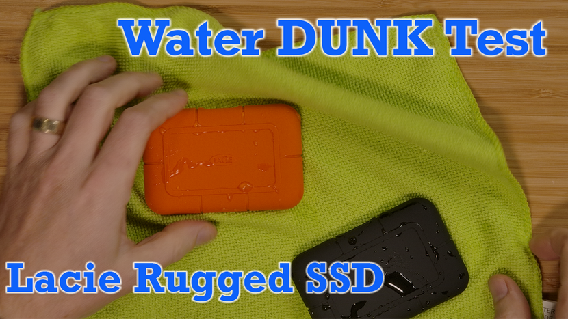 Lacie Rugged SSD New Releases! Water DUNK Test - Review