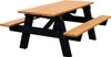 6' A-Frame Rectange Plastic Picnic Table