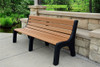 4' Newport Recycled Plastic Park Bench