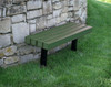 8' Trailside Recycled Plastic Park Bench
