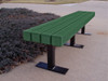 6' Trailside Recycled Plastic Park Bench