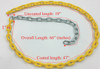 """3/16"""" Coated Swing Chain 5 1/2' Dims"""