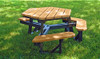 Hexagonal ADA Recycled Plastic Picnic Table