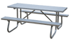 6' Aluminum Picnic Table with Galvanized Frame