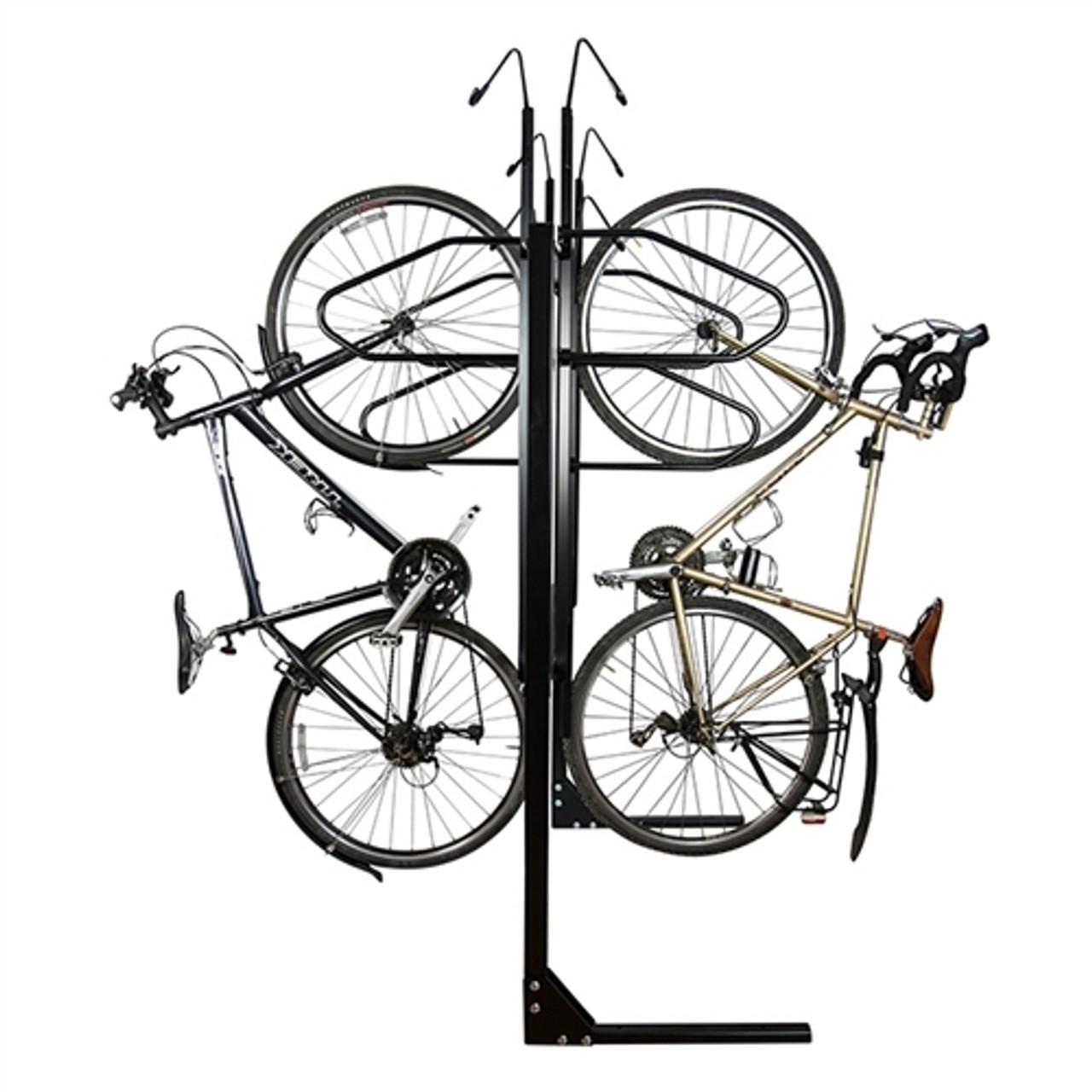 6 Bike double sided locking bike rack