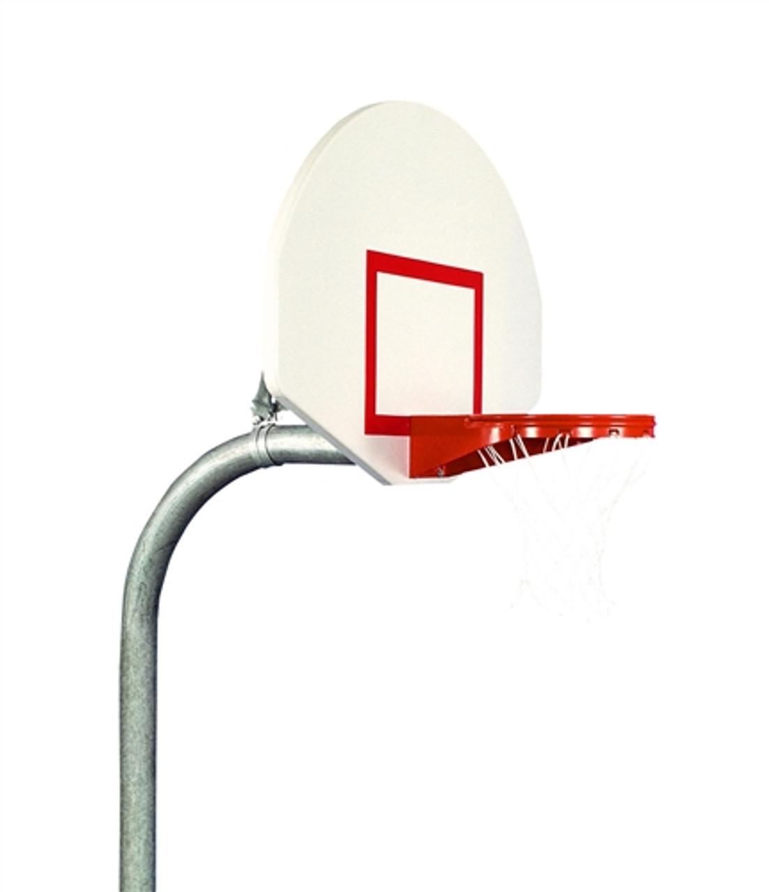standalone basketball backboard with rim and net