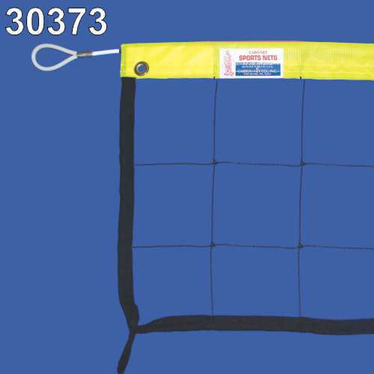 Neon Yellow Headband with Steel Cable Volleyball Net