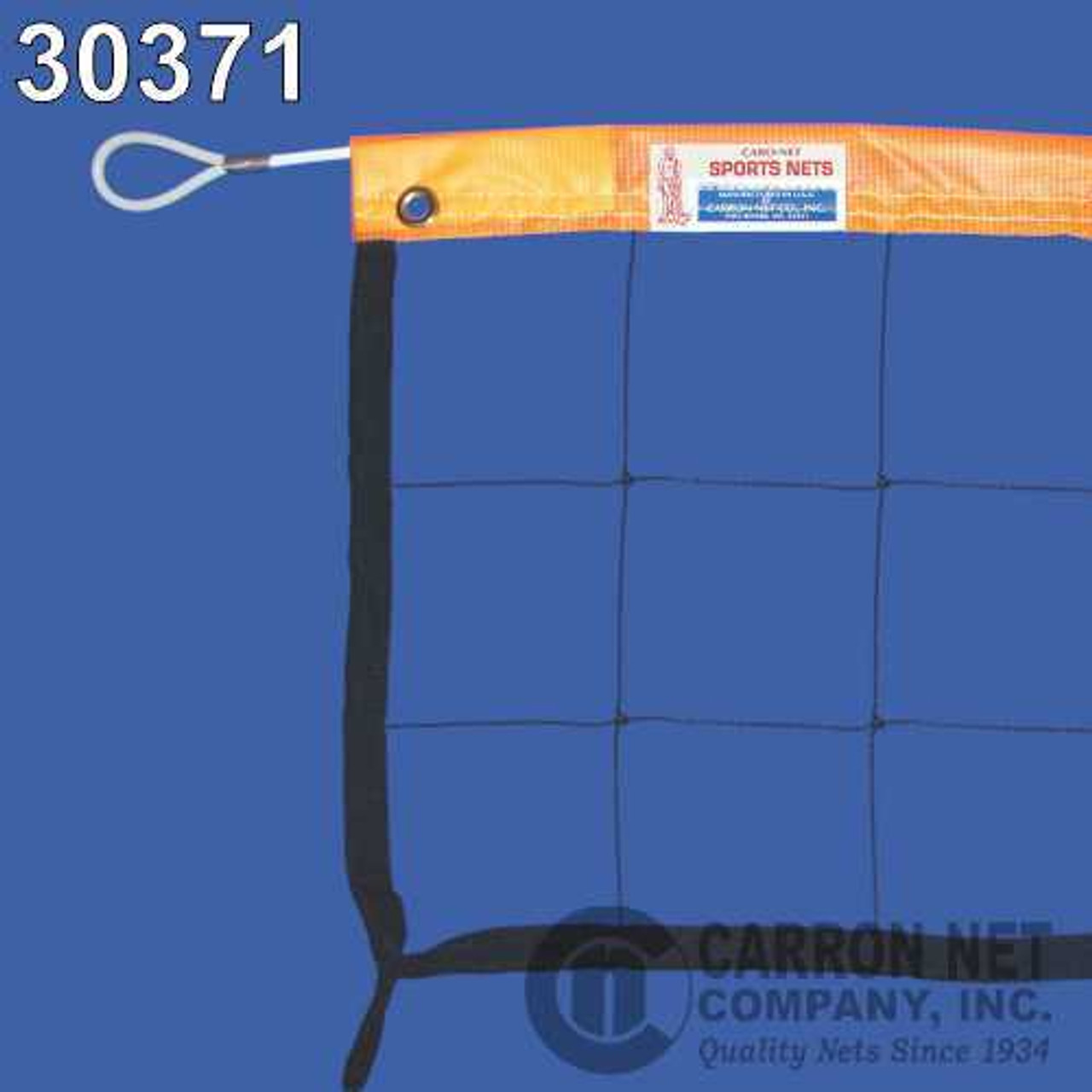 Neon Orange Headband with Steel Cable Volleyball Net