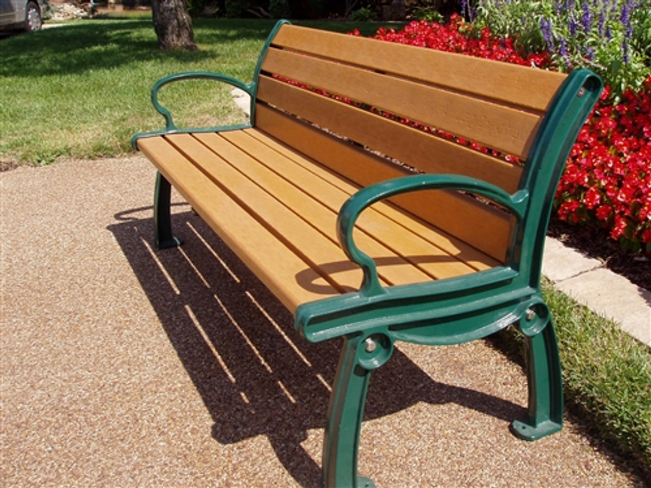 6' Heritage Park Bench_Recycled Plastic Slats