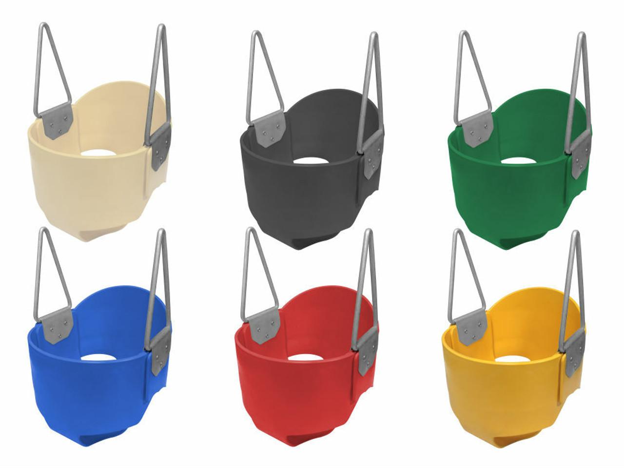 Infant rubber bucket swing seats