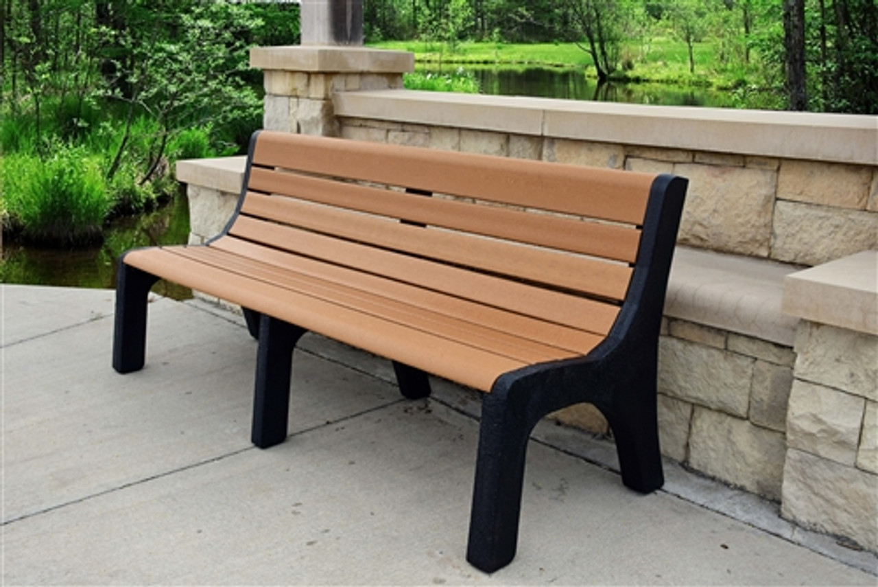 Stupendous 6 Newport Recycled Plastic Park Bench Forskolin Free Trial Chair Design Images Forskolin Free Trialorg