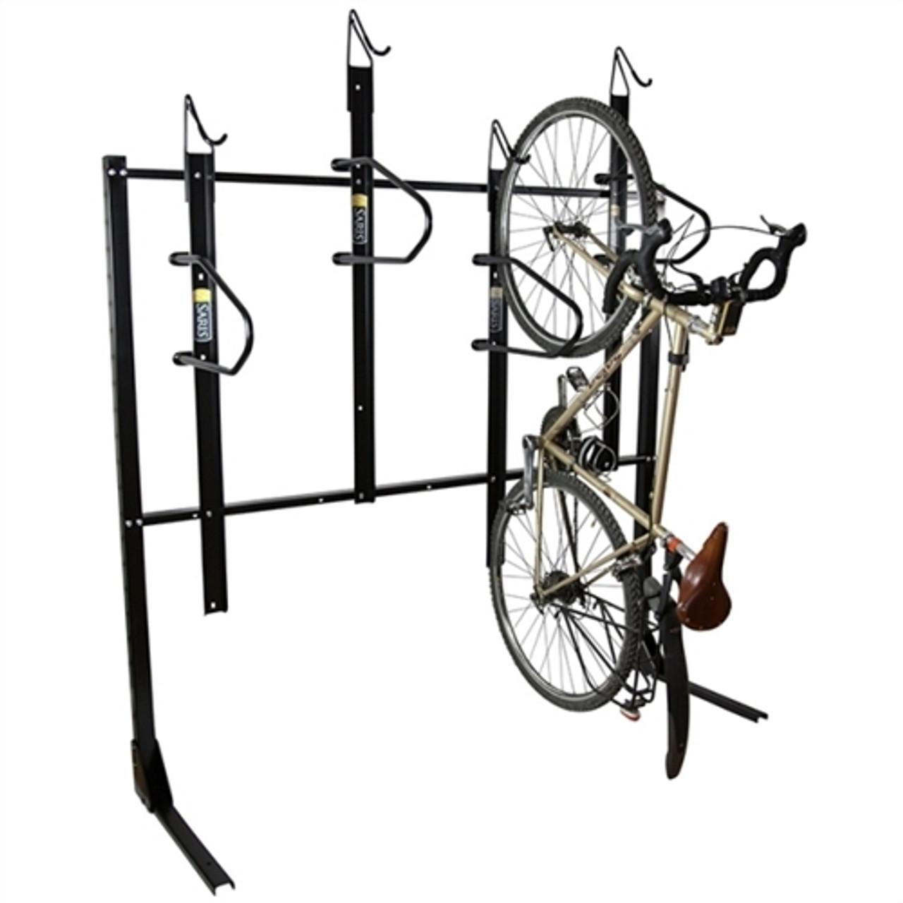 Wall Mount - 4 Bike Parking with Locking Bar