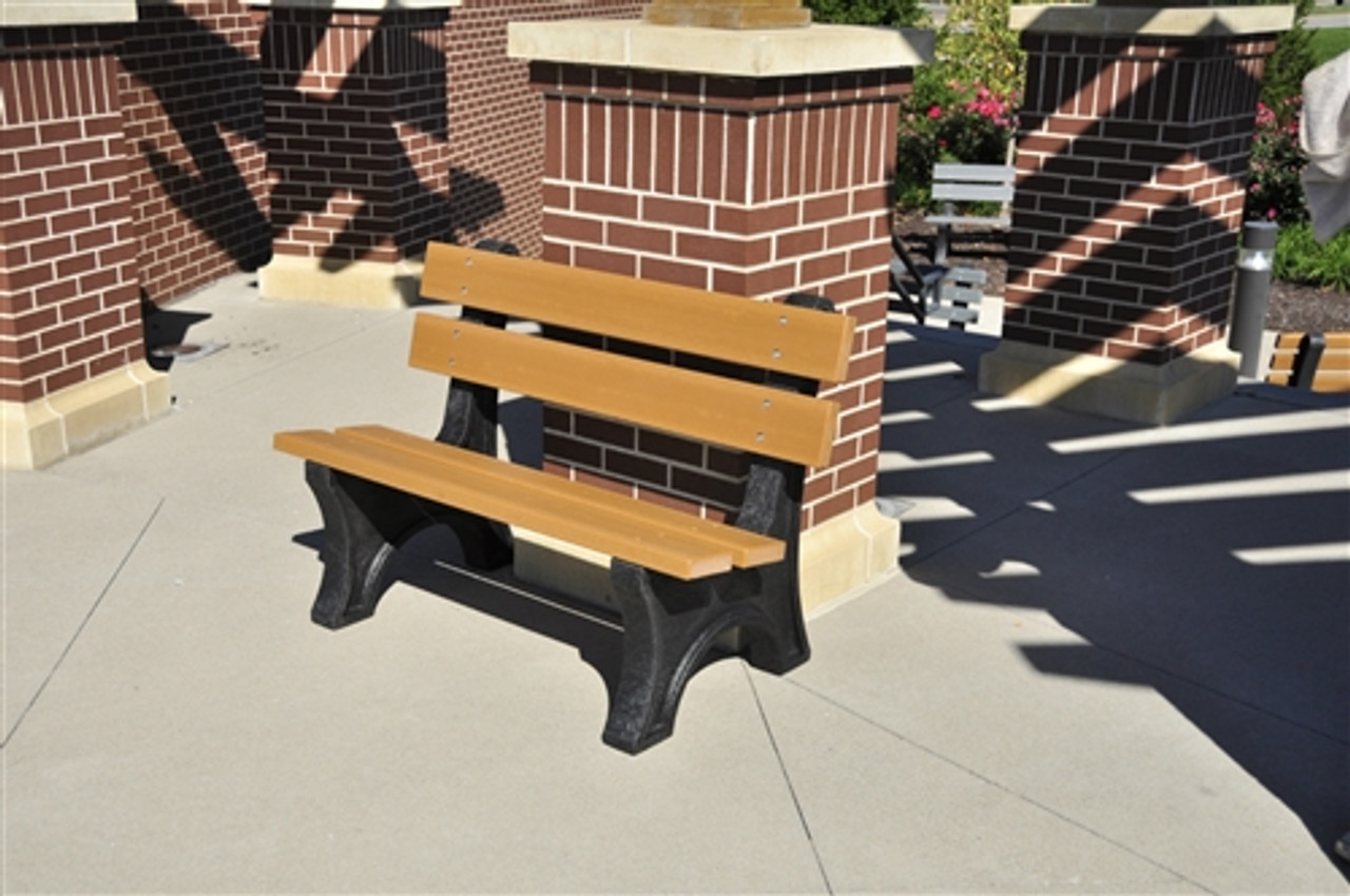 4 Colonial Park Recycled Plastic Bench Park Furnishings