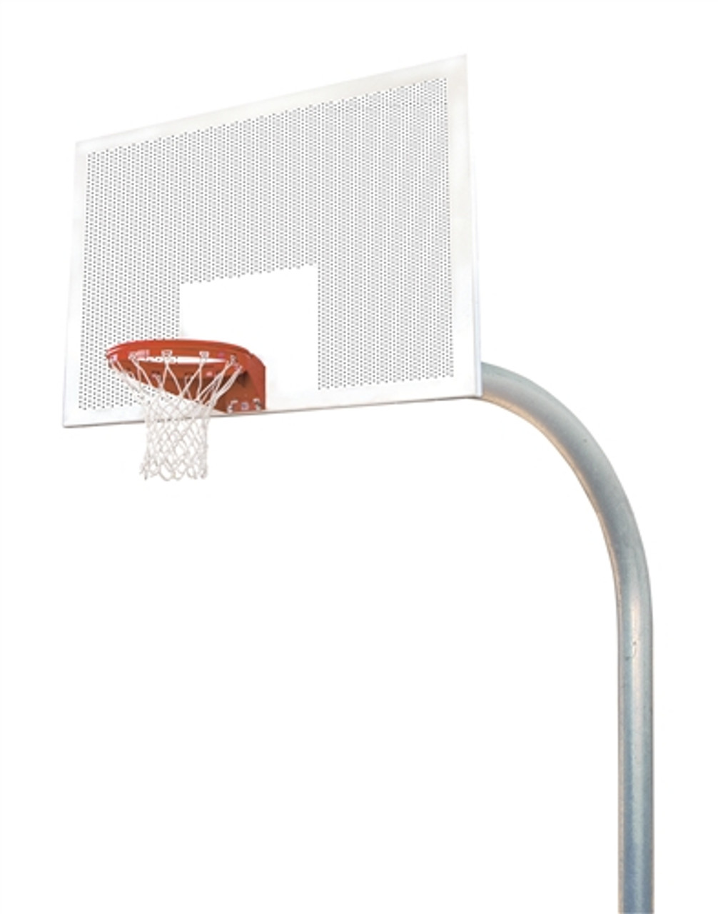 mega duty perforated steel basketball system