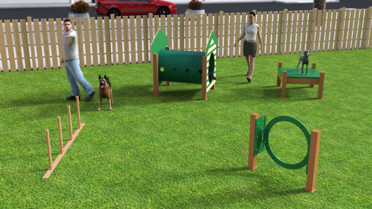 Recycled Small Dog Park Kit