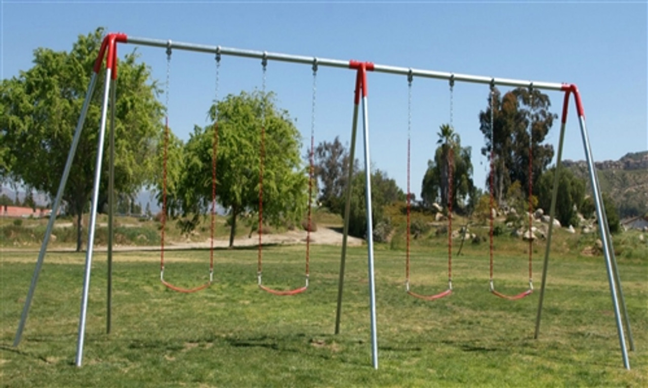 4 Swing Metal Swing Set