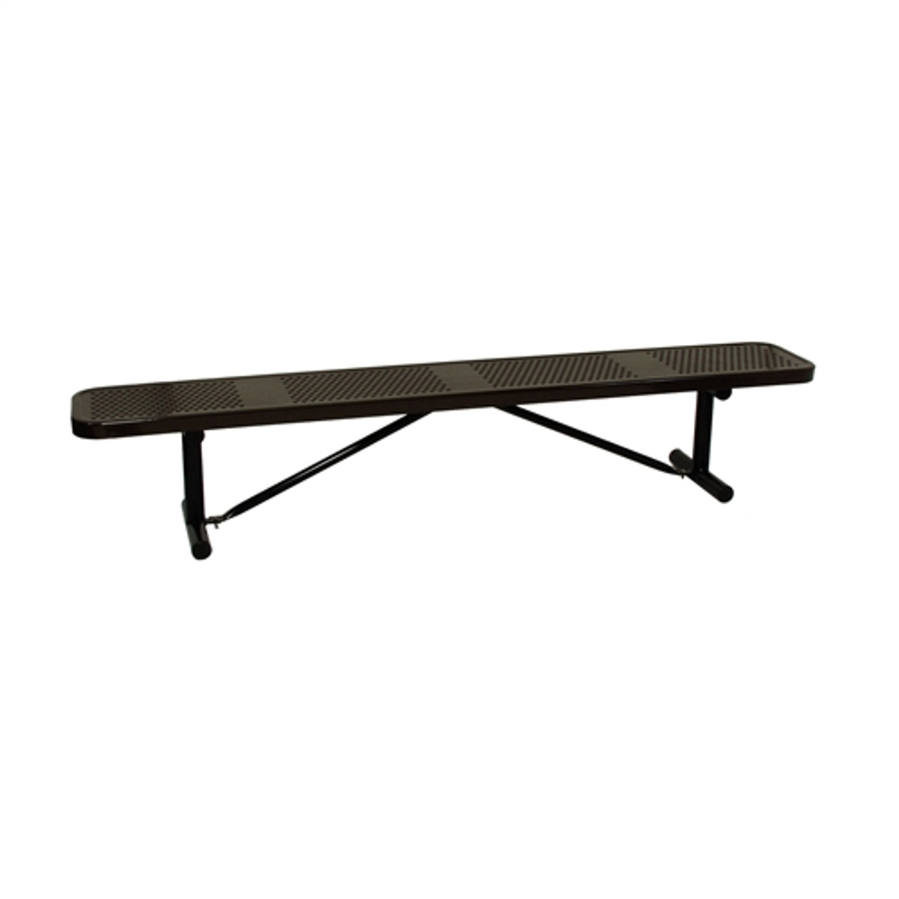 black metal sports bench without a back