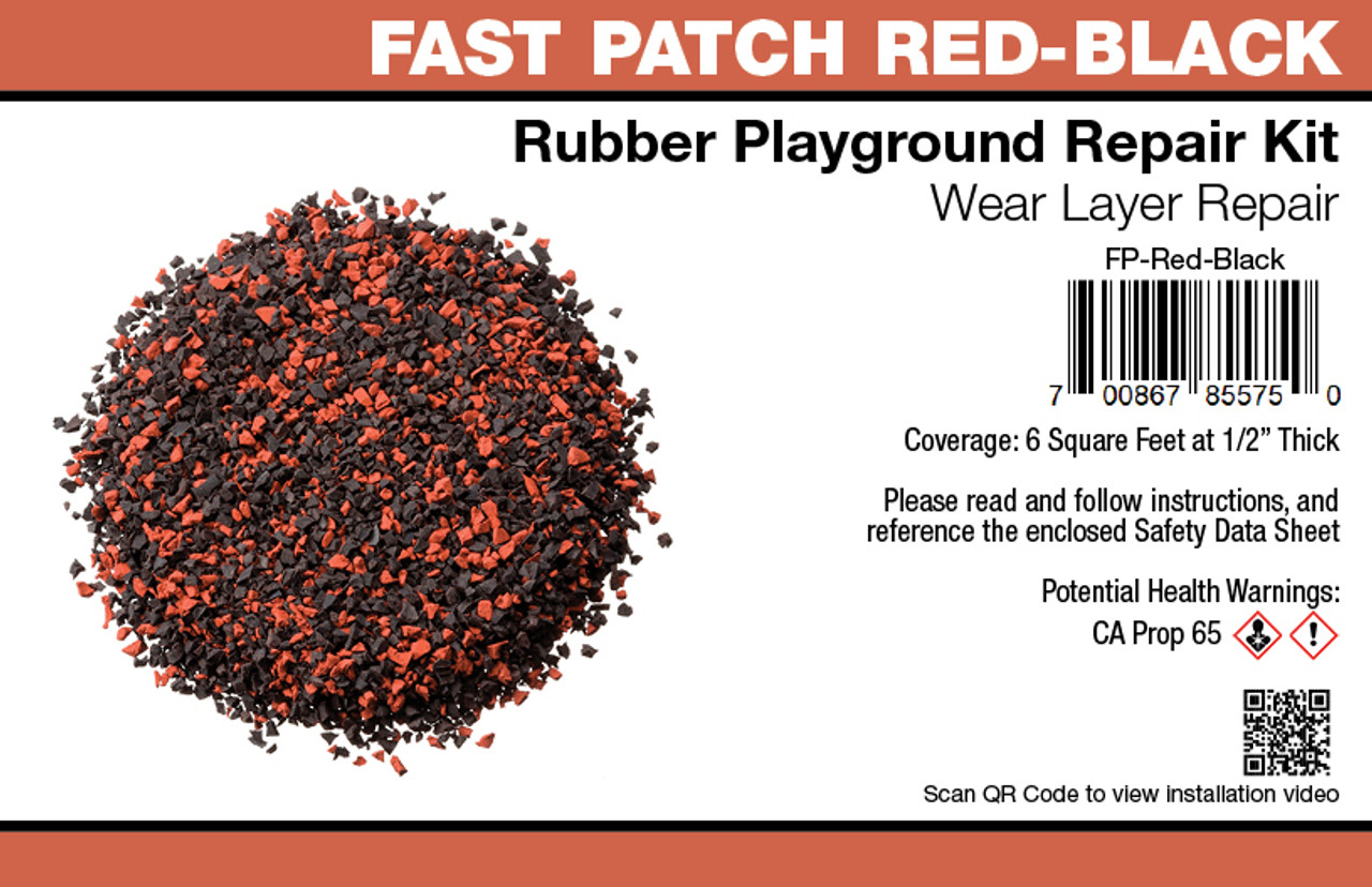 Fast Patch Red Poured-in-Place Surfacing Repair Kit Fix Rubber Playground