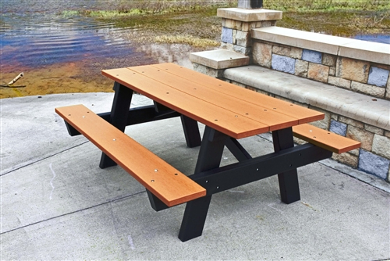 8' A-Frame Rectange Plastic Picnic Table