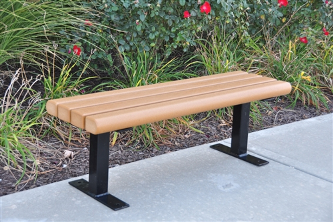 Picture of: 8 Creek Side Recycled Plastic Park Bench Park Furnishings