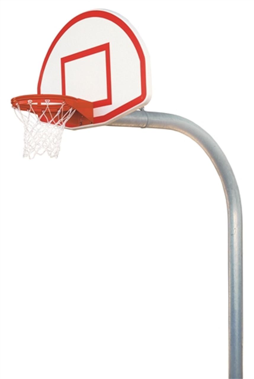 Mega Duty Fan Style Outdoor Basketball System