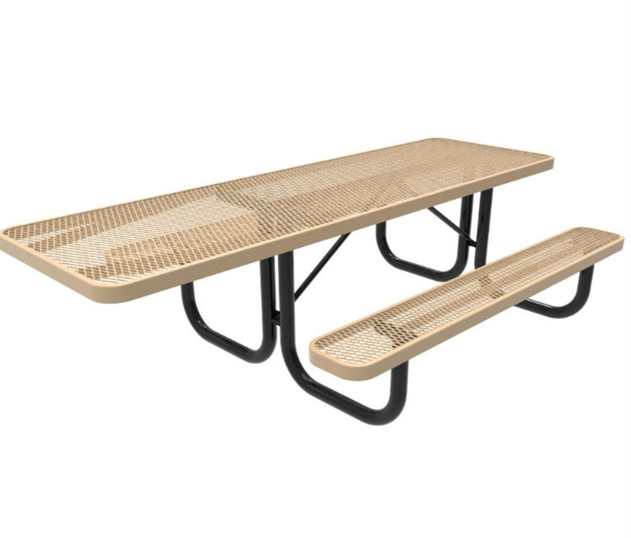8' ADA Expanded Metal Picnic Table