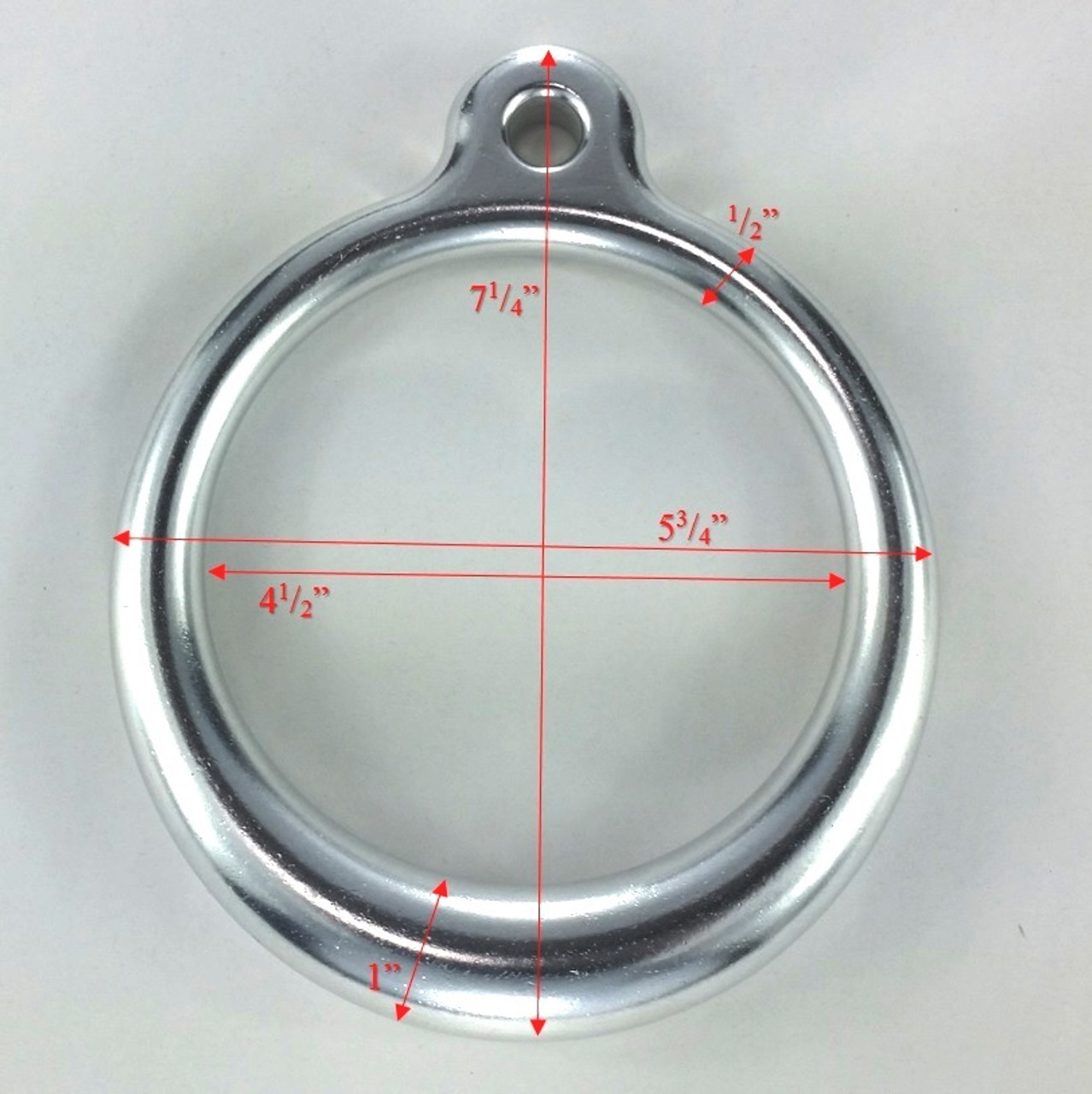 "Trapeze Ring Aluminum 6"" OD Dims"