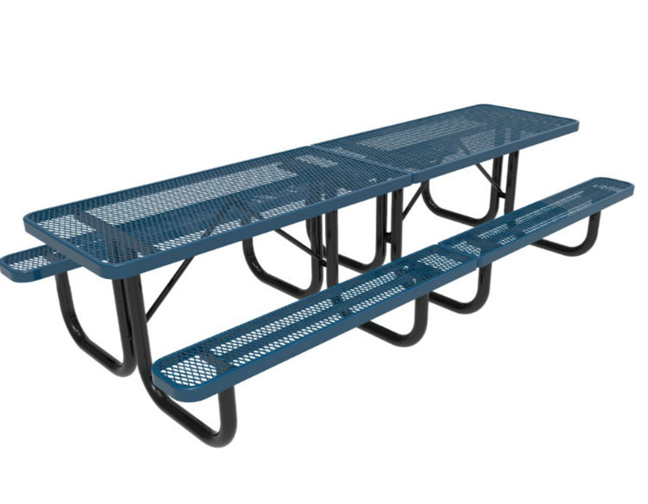 10' Expanded Metal Picnic Table