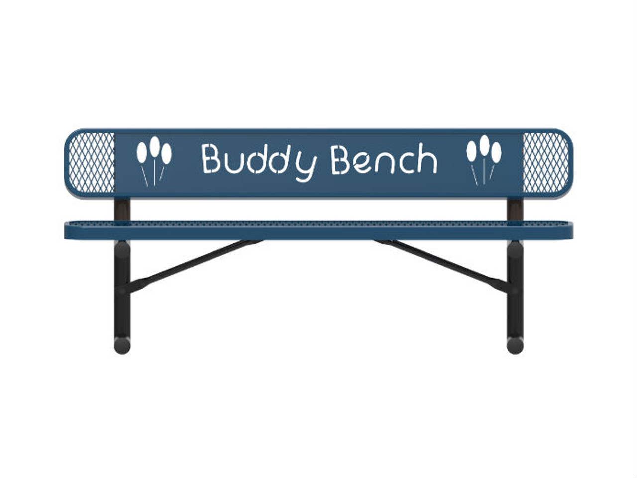 Expanded Metal Buddy Bench