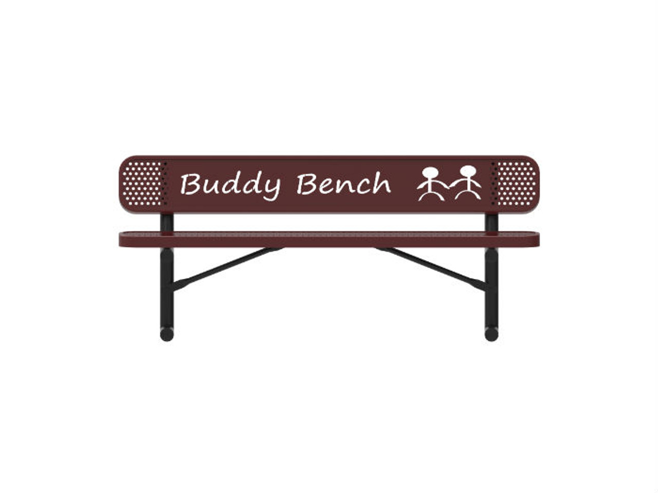Punched Steel Buddy Bench
