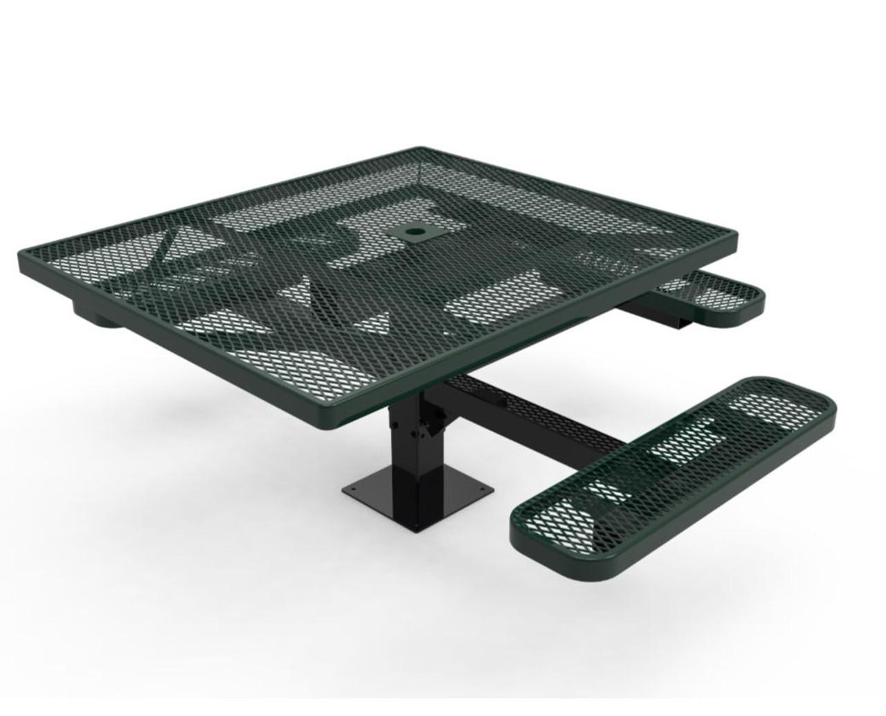 "46"" Square ADA Accessible Pedestal Picnic Table"