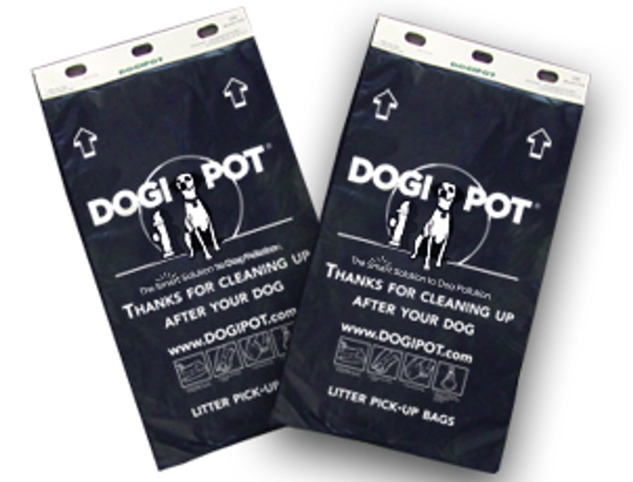 Case of  20 - 100 Bags each SMART Litter Pick Up Bags - Header Paks