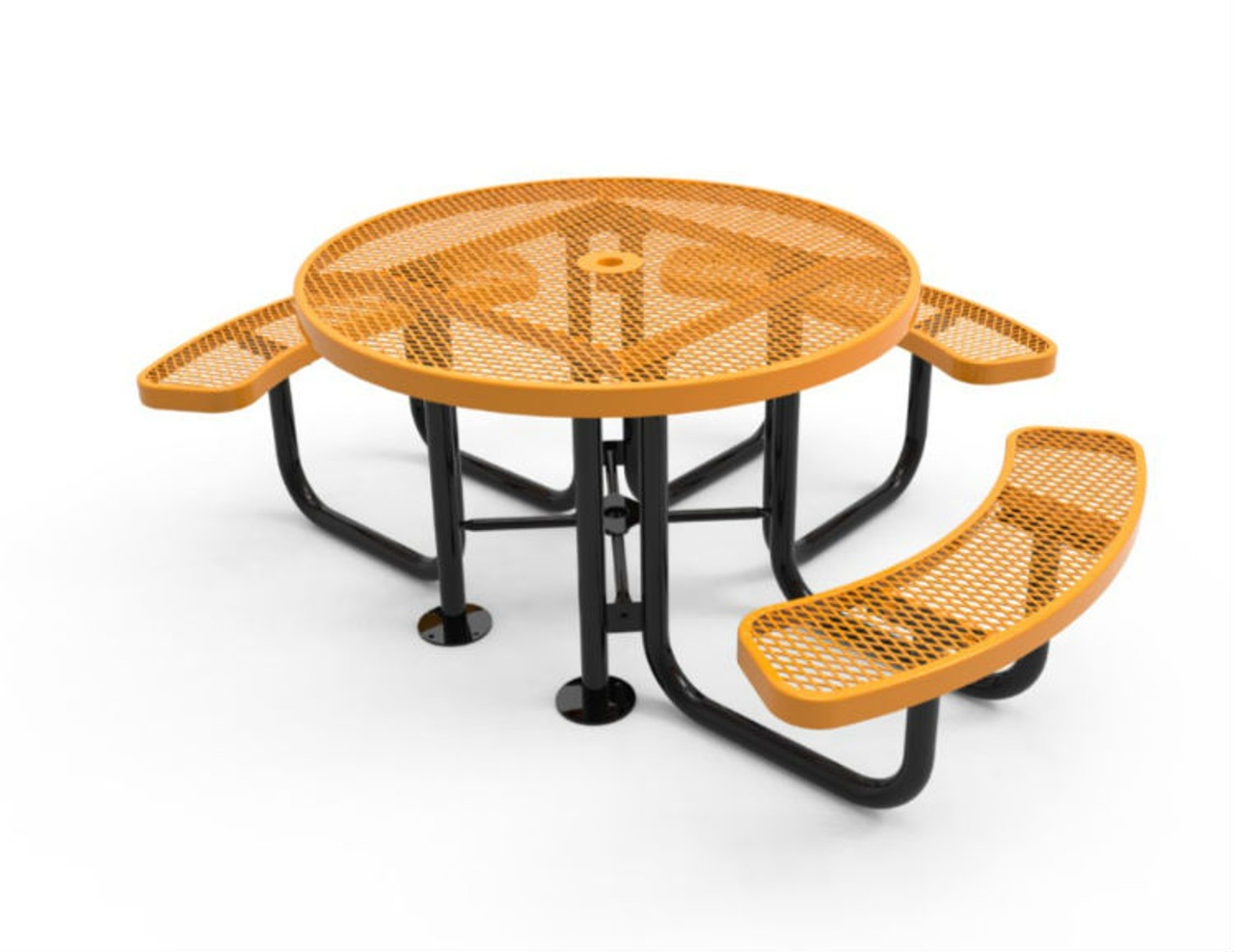 Round 3 Seat Expanded Metal ADA Picnic Table