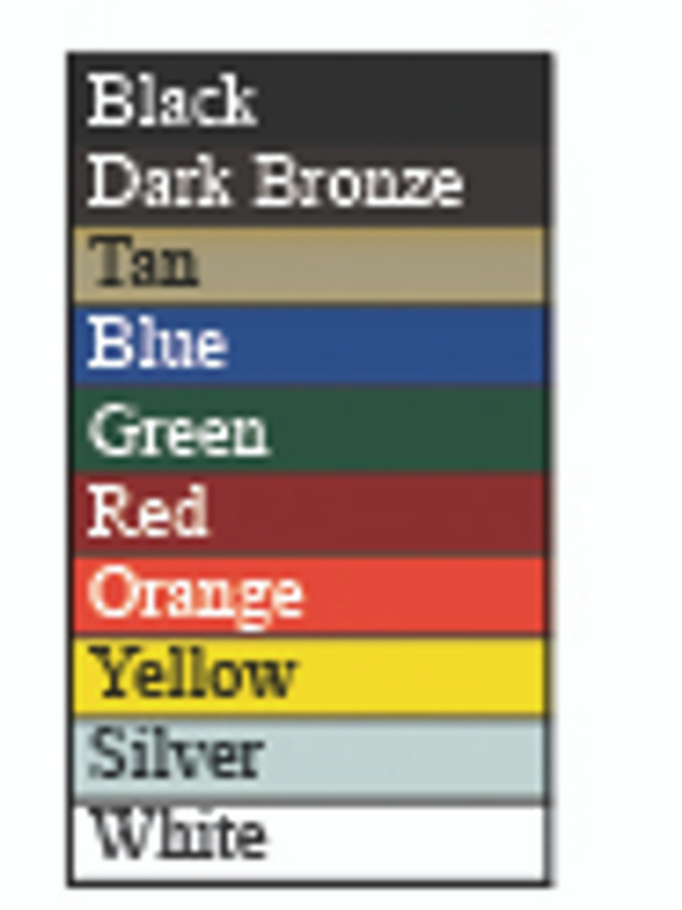 Domed ADA Drinking Fountain color chart