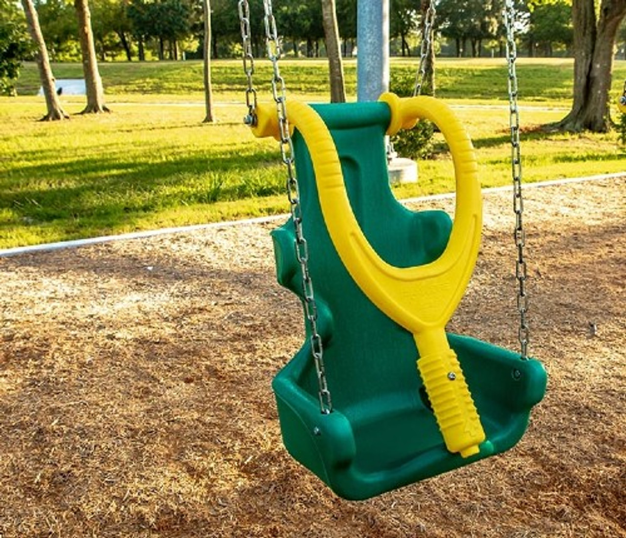 Inclusive Swing Seat Green-Yellow