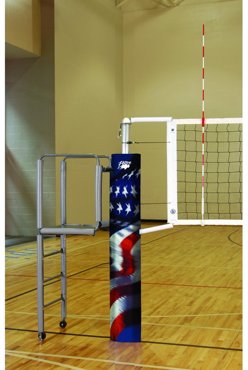 Carbon fiber indoor volleyball system