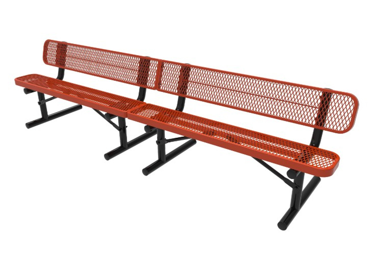 10' Expanded Metal Bench - Portable