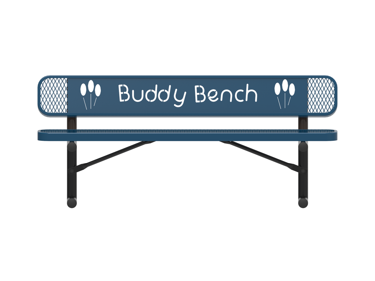 4' Expanded Metal Buddy Bench