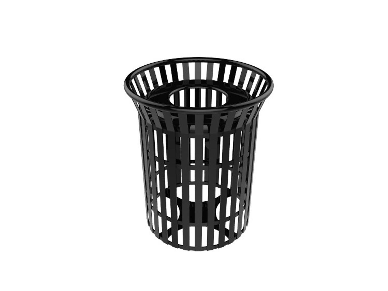32 Gallon Steel Slat Trash Can