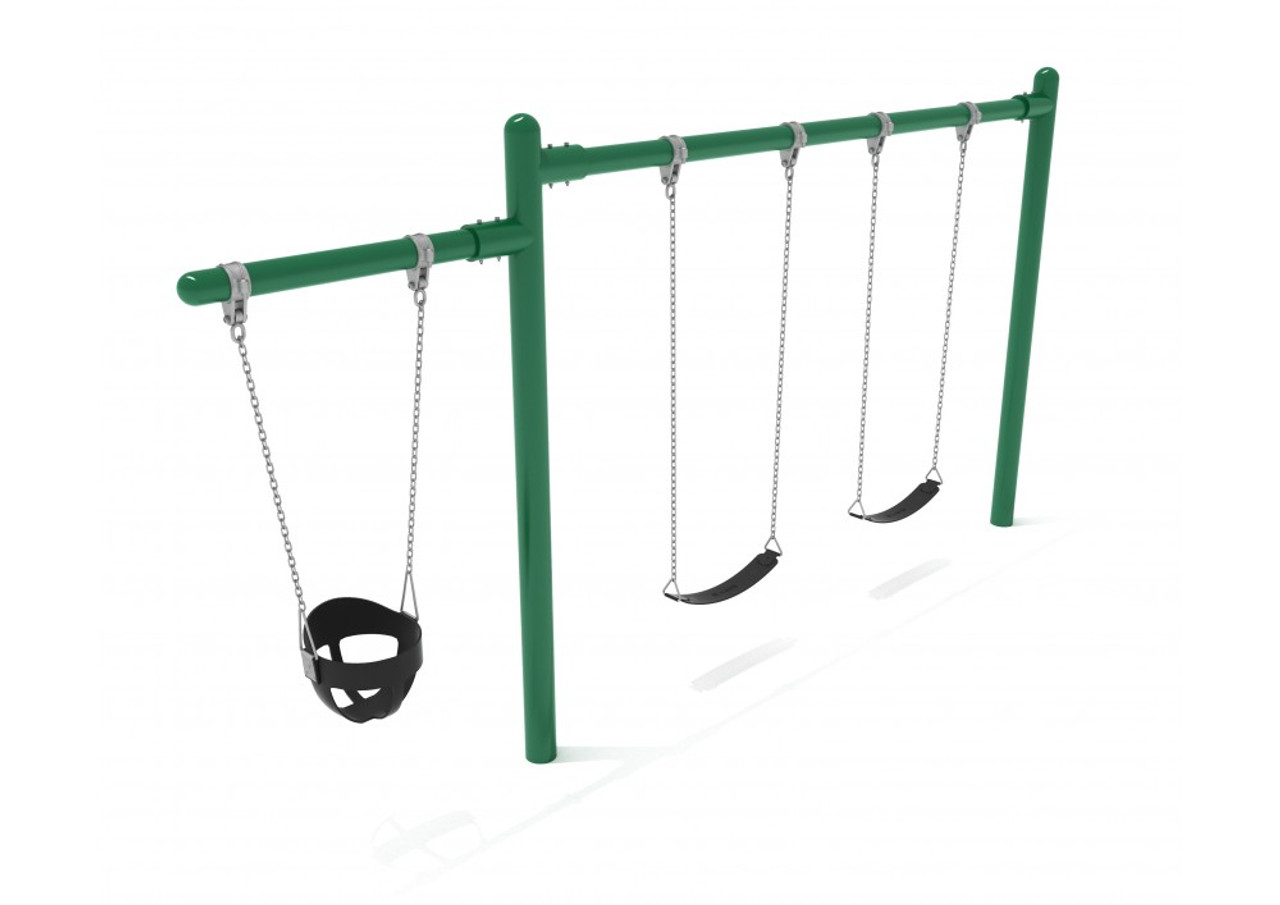 Cantilever Swing - 1 Bay 1 Cantilever  - Green
