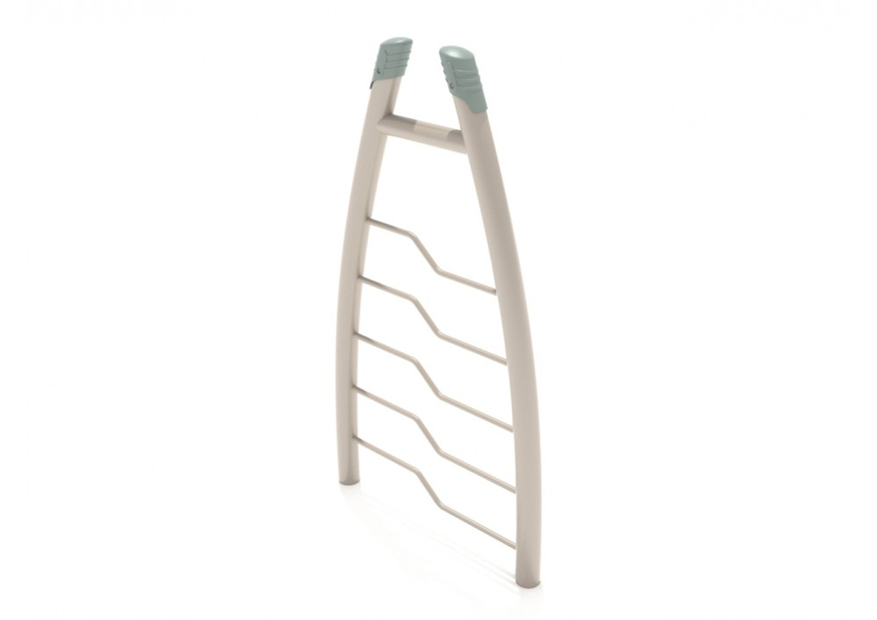 Curved Post Bent Rung Vertical Climbing Ladder
