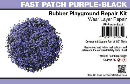 Fast Patch Purple Black Poured-in-Place Surfacing Repair Kit Fix Rubber Playground
