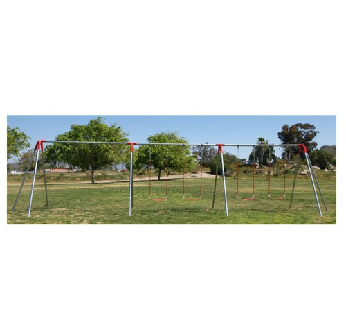 6 swing seat heavy duty swing set