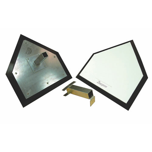 """Major league home plate with 1 1/2"""" mounting anchor"""