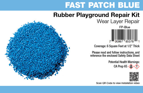 Fast Patch Blue Poured-in-Place Rubber Surface Playground Repair Kit